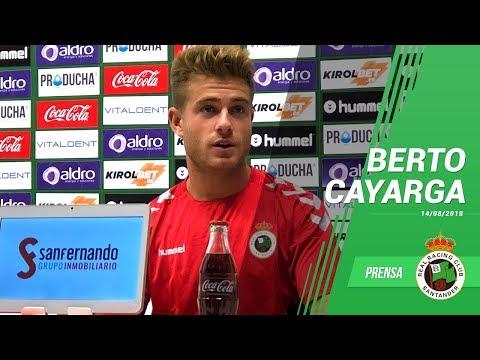 Rueda de prensa de Alberto Cayarga