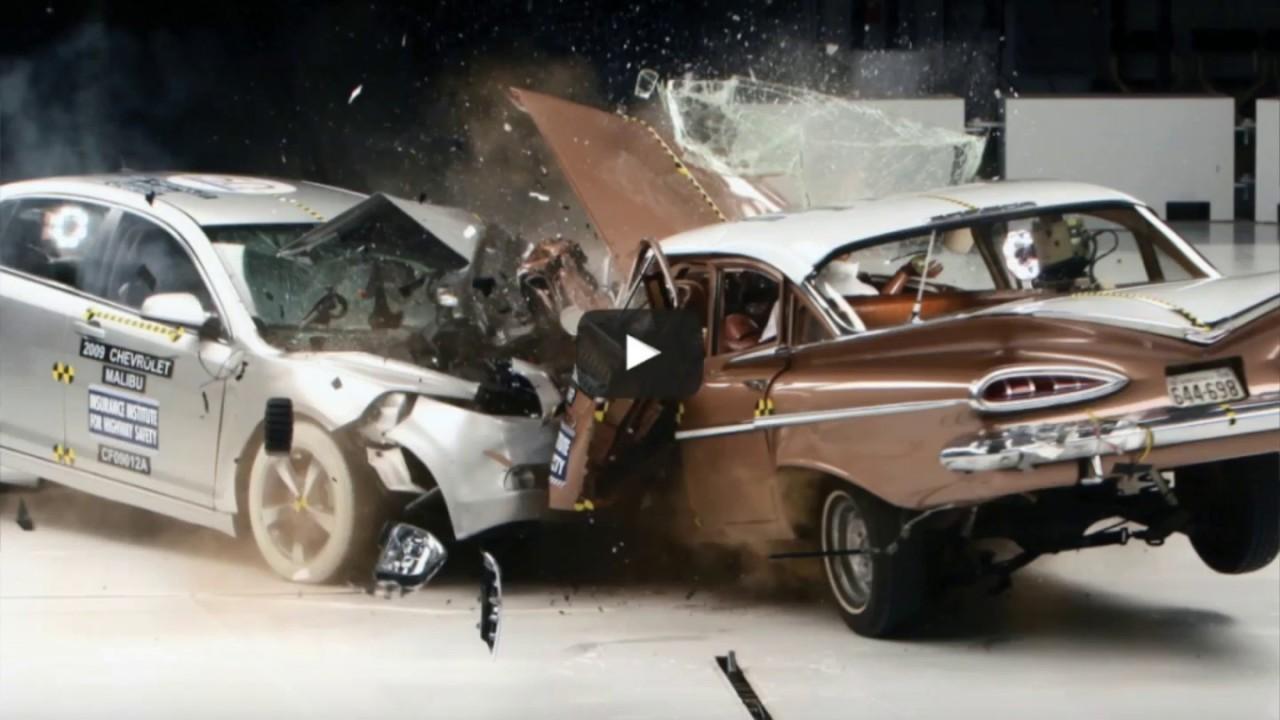 old car vs new car crash test youtube. Black Bedroom Furniture Sets. Home Design Ideas
