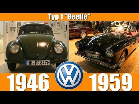 """Volkswagen Typ 1 """"Beetle"""" Evolution From 1946-1959"""