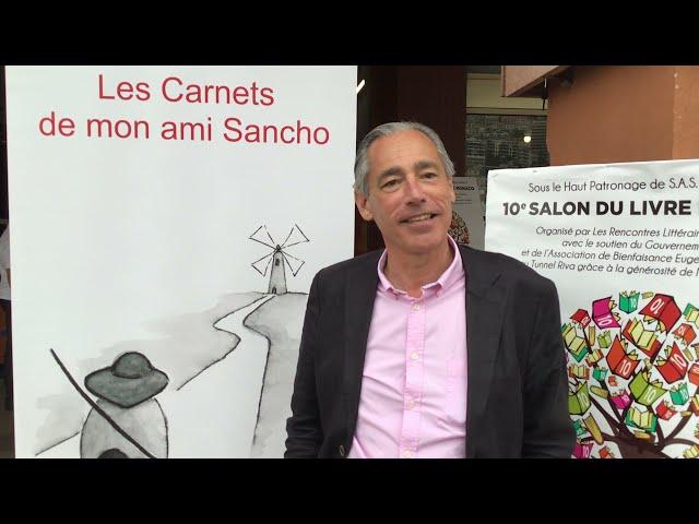 Monaco  10éme Salon du Livre Ely Galleani interview Guy Pierlot