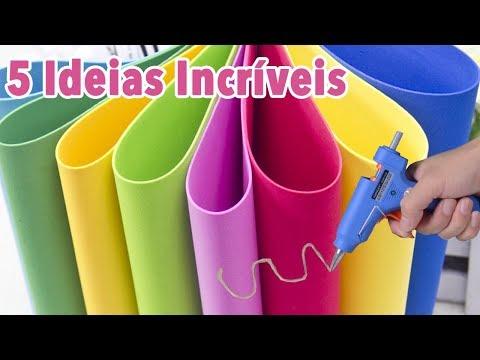 DIY -  5 IDEIAS em EVA para VENDER ou presentear -  Artesanato EVA -  Compilação - Segredos de Aline