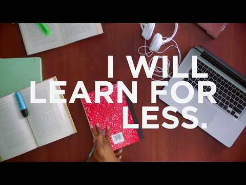 Valencia College – I will learn for less.