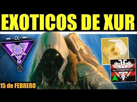 Destiny 2: Localización de Xur! Exóticos! Bonificaciones Valor! Ventajas & Recomendaciones! | 15 Feb thumbnail