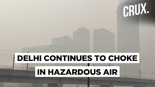 Engulfed In A Thick Smog As Delhi's Air Quality Continues To Worsen