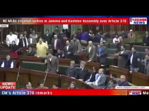 Fighting inside the Jammu and Kashmir assembly