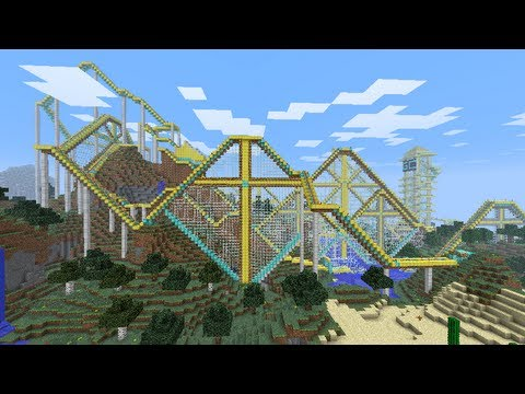 Biggest Minecraft House In The World 2013 best minecraft roller coaster ever! - youtube