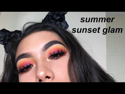 summer sunset makeup tutorial ft. morphe 35B palette ♡ marina hokulani