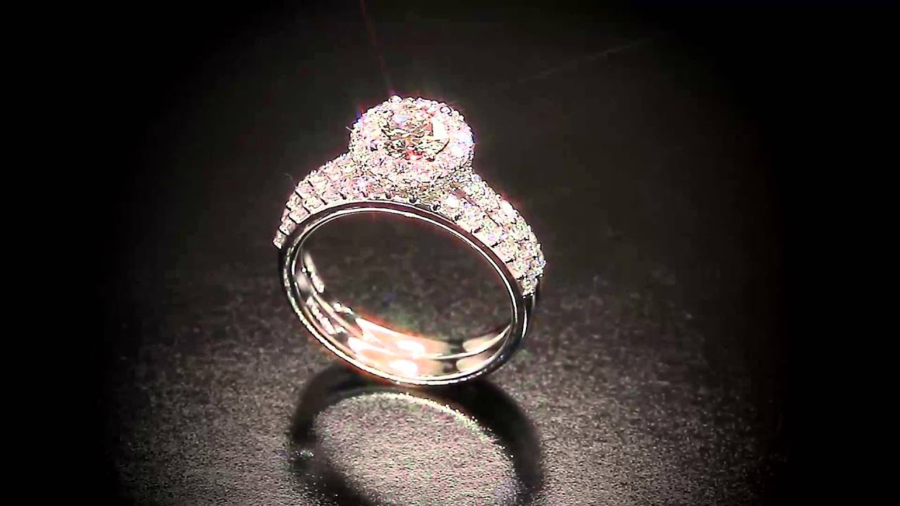 jackie round diamond platinum engagement ring   youtube