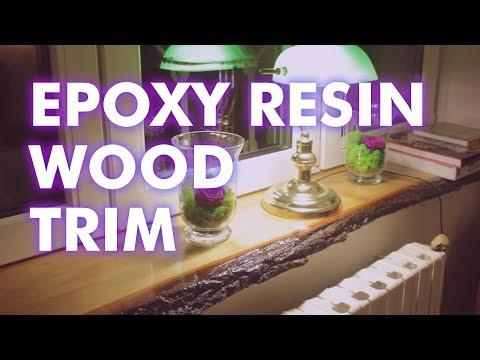 Making a Tree Slab Window Trim Using Epoxy Resin