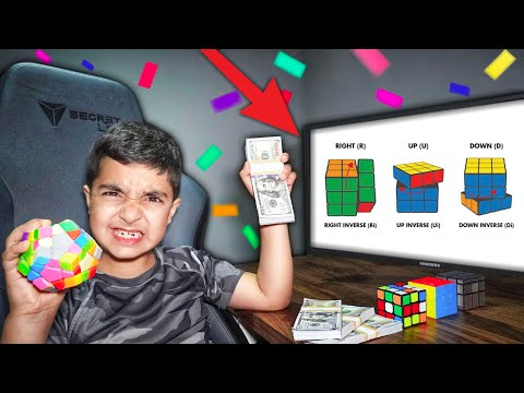 $10000 If You Can SOLVE This Impossible RUBIKS CUBE (LITTLE KID SOLVES RUBIKS CUBE!)