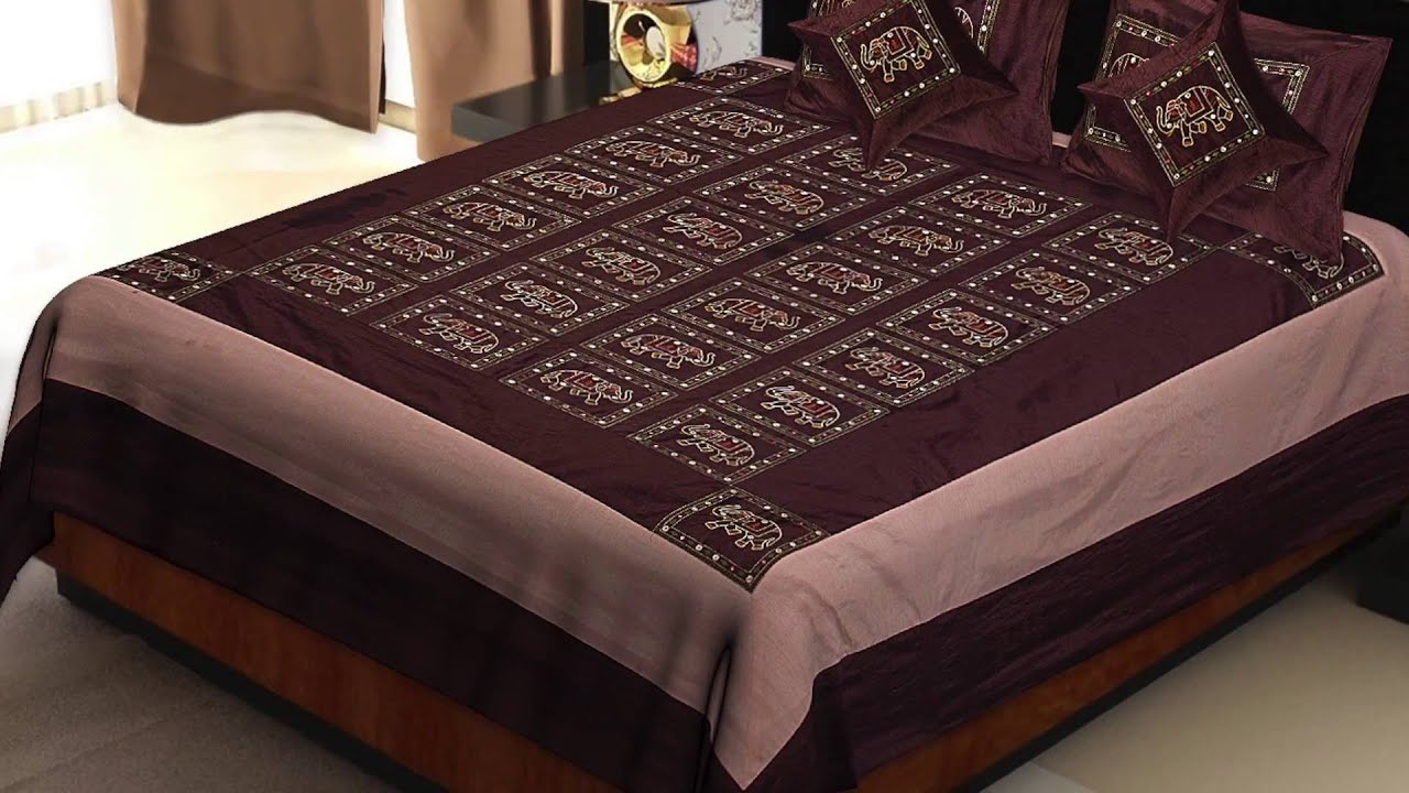 Jaipuri Silk Bed Sheets At Jaipur Fabric