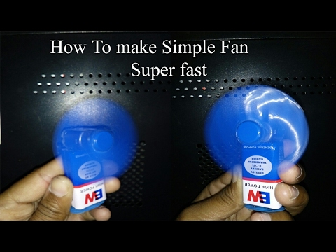 How to make a super fast fan with 9v battery and compact disc step by step  very easy