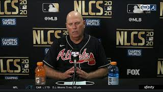 2020 NLCS: Manager Brian Snitker reacts to Atlanta's Game 7 loss to Dodgers