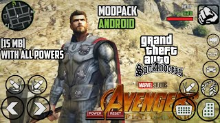 [15MB] THOR INFINITY  WAR MODPACK  | GTA SA ANDROID | With All Powers and Working Strombreaker