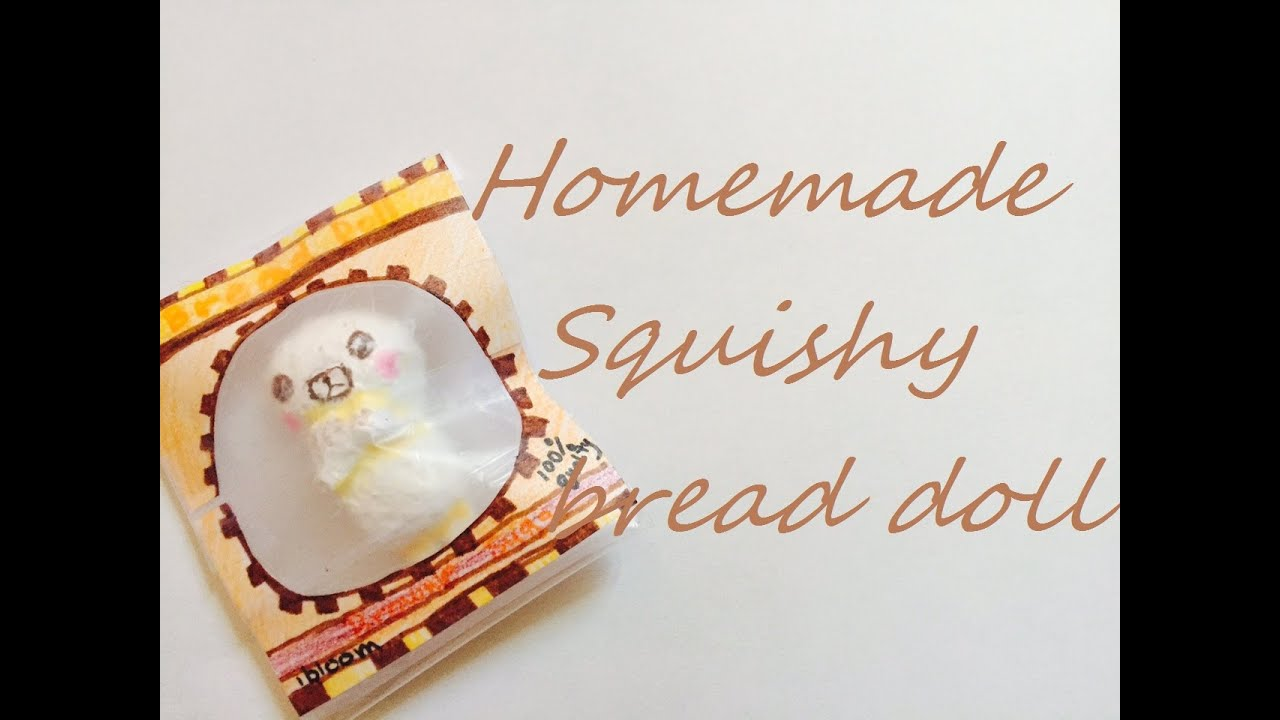 Homemade Squishy Bread Doll by ibloom