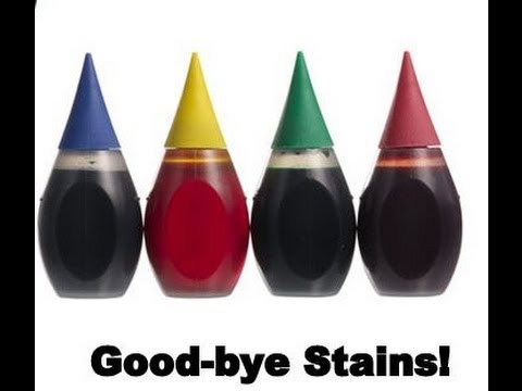 How to easily remove food color stains (or any other food stain)  from countertops