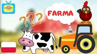 Nauka zwierząt dla dzieci - Zwierzęta na wsi - Odgłosy zwierząt- FARMA