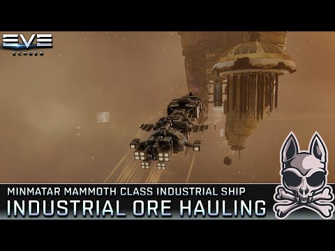 Industrial Mining Operations - Hauling Ores In a MAMMOTH || EVE Echoes