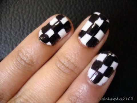 checkered nail art tutorial
