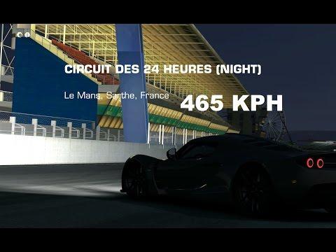 TC BEST TOP SPEED Endurance Venom GT 465 Kph LEMANS
