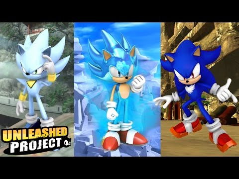 Sonic Generations PC- Unleashed Project Part 2- Nazo/Super Sonic Blue/Shadic