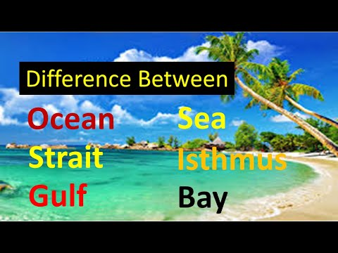 Difference Between Ocean And Sea|Bay And Gulf|Strait And Isthmus|Best Examples|Geographical Terms.