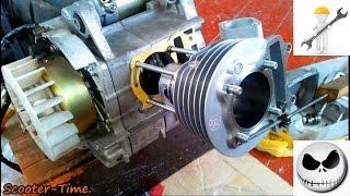Ремонт скутера Fada/Viper 150 Сборка Двигателя 157QMJ Ч-3.2