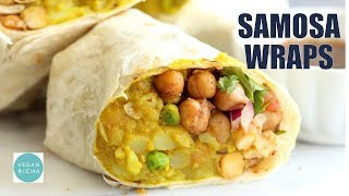 SAMOSA WRAPS – SPICED POTATO CHICKPEA CHUTNEY BURRITO