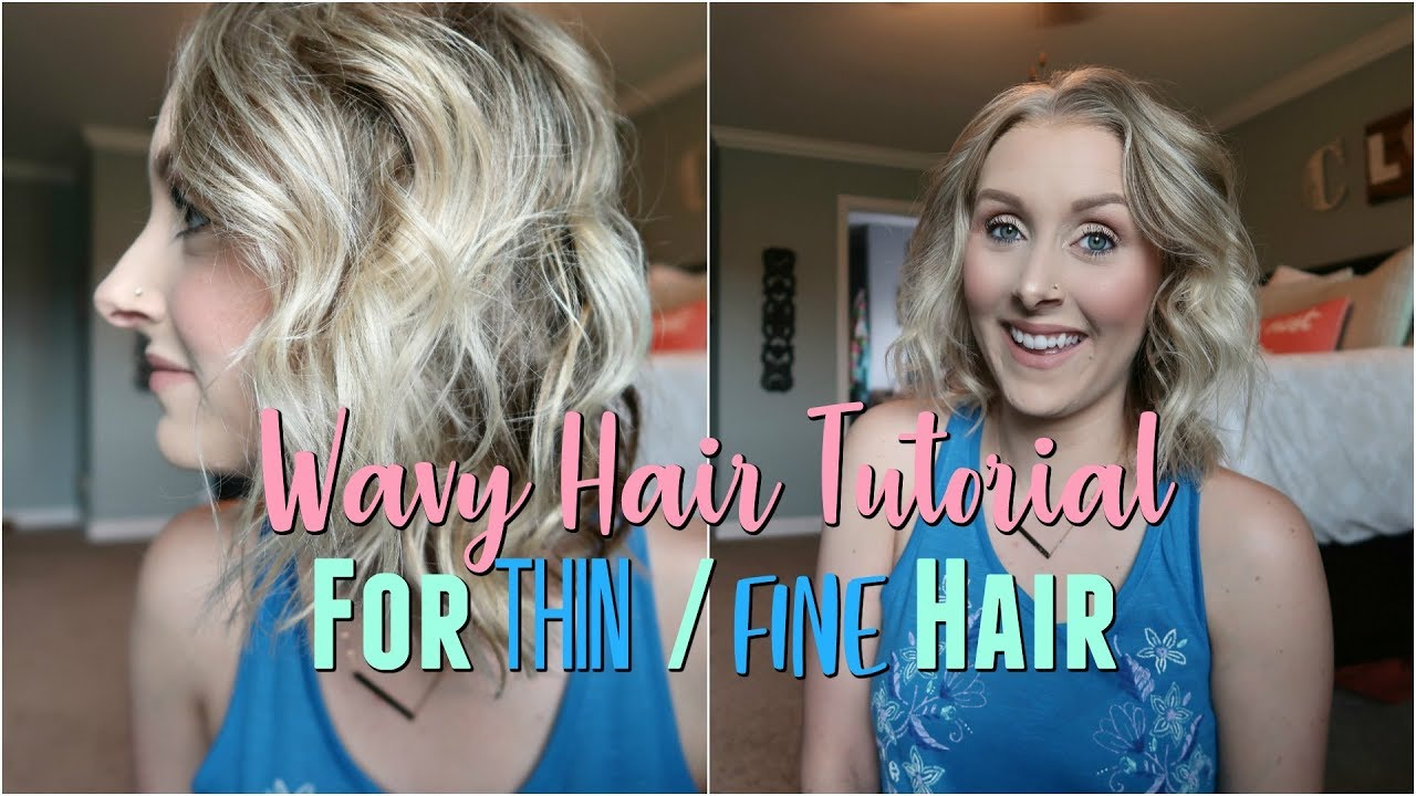 Wavy Hair Tutorial For Thin Fine Hair Easy 5 Min Hairstyle Beachy Waves