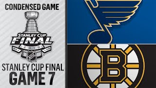 06/12/19 Cup Final, Gm7: Blues @ Bruins