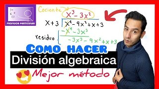 División algebraica por división larga