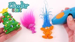 Trolls Hechos con Plastico Derretido Utilizando el Nuevo 3Doodler Start - Lapicero en 3D DIY