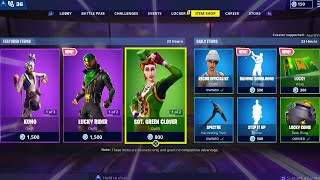 SGT GREEN CLOVER | LUCKY RIDER | POT O GOLD | LUCKY COINS; Item Shop in FORTNITE #March17th
