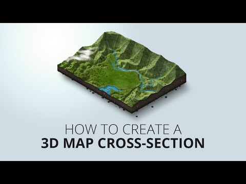 How to create an 3D map cross-section