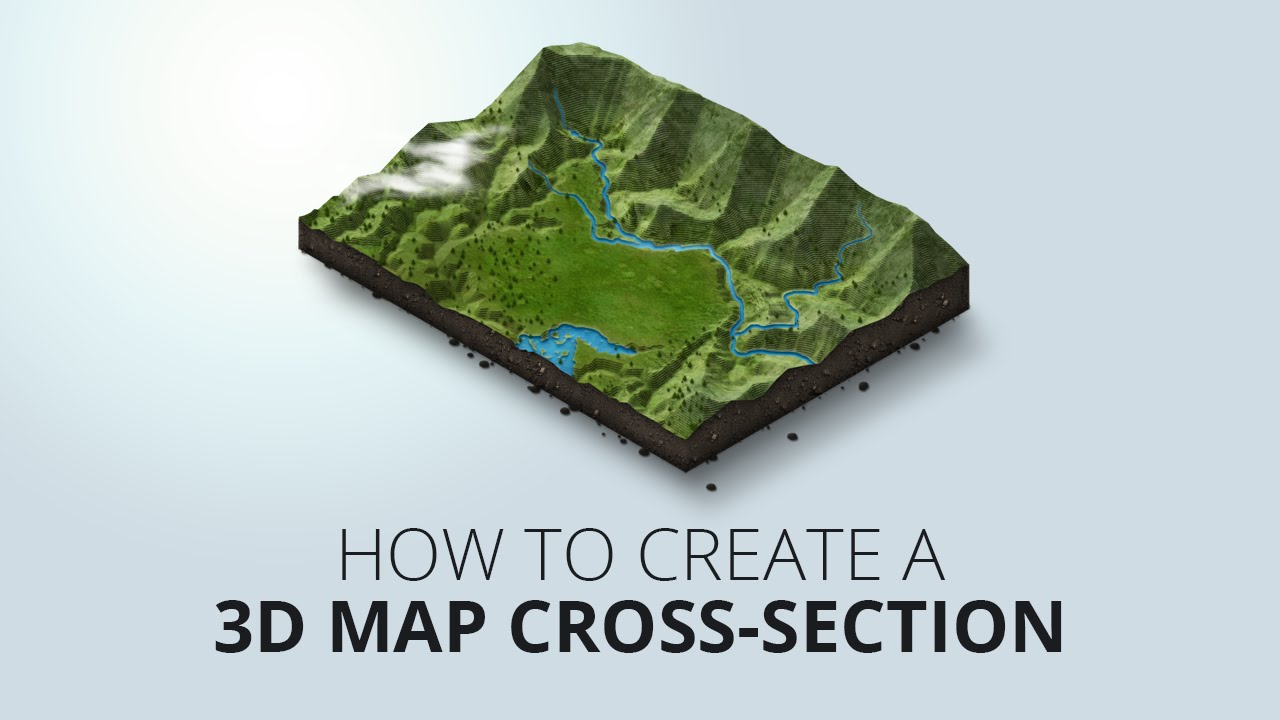 How to create an 3D map crosssection  YouTube