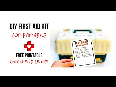 photo relating to Printable Pocket First Aid Guide identify Do it yourself Initially Assistance Package for Households with a Totally free Printable Checklist