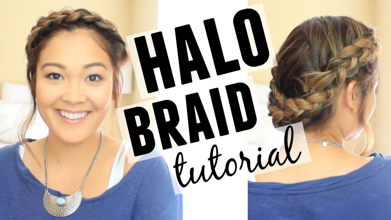 Halo Braid Hair Tutorial Shoulder Length Hair Youtube