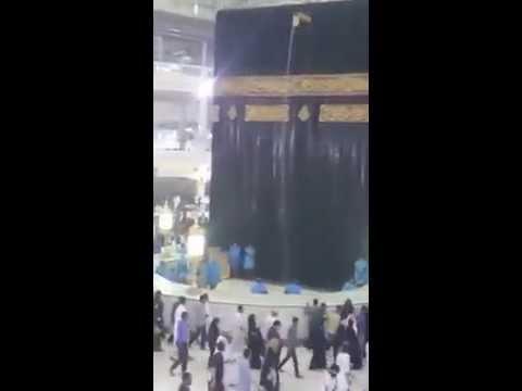 Hujan Badai di masjidil haram makah