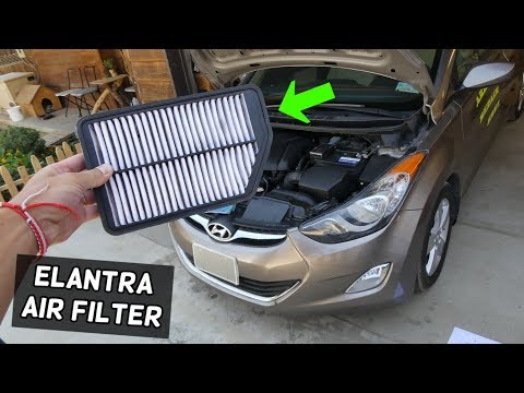 HOW TO REPLACE ENGINE AIR FILTER ON HYUNDAI ELANTRA