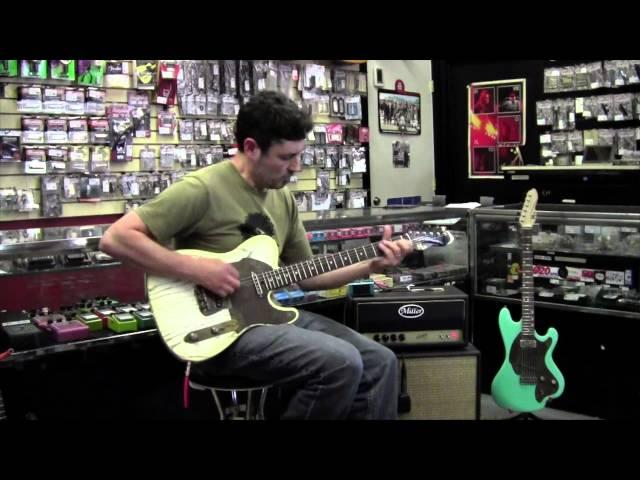 M-tone® Guitars nicotine burst TKO and Miller Ampwerks Vortex