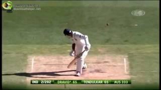 Rahul Dravid bowled 7 times in 8 innings vs Australia 2012