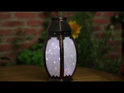 Solar Copper Marvello Rotating Lantern - 1080948
