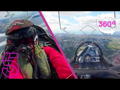 360° Cockpit View of The Red Arrows in Toronto, Canada | Red Arrows Take America | Channel 5