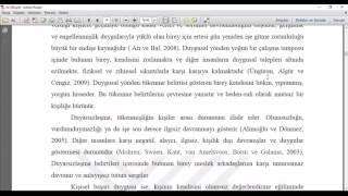 Ders 1  Tez, makale, bitirme projesi hazırlama genel bilgi