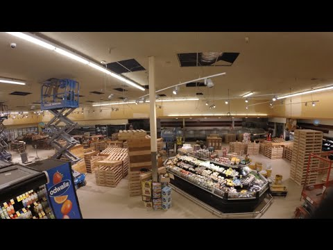 Converting to a Haggen Northwest Fresh - Full Time Lapse of Puyallup Store