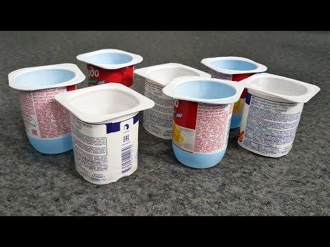3 потрясающе простых идеи из стаканчиков от йогурта