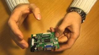 Обзор Универсального скалера монитора VS-TY2662-V1 RTD2660/RTD2662 AV HDMI VGA  PCB800099 V.9