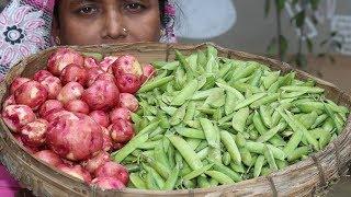 Village Food Farm Fresh Green Peas Recipe Village Style Delicious Fresh Green Peas & Potato Cook