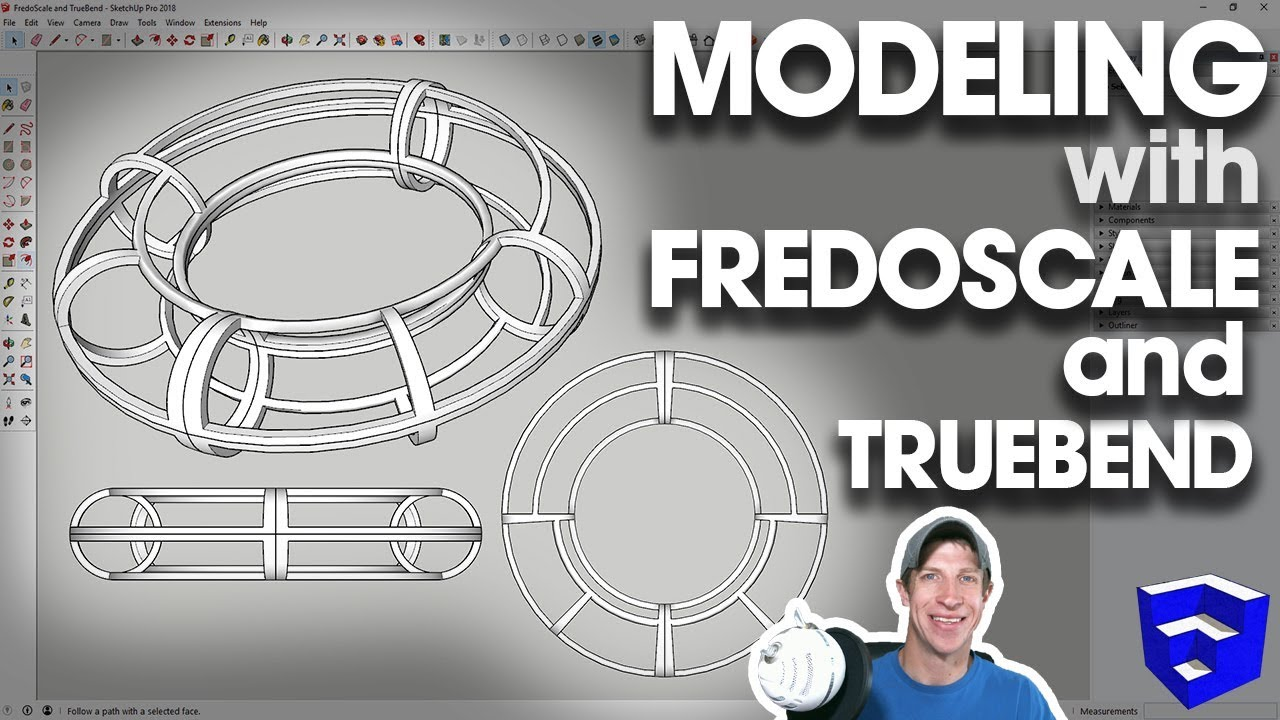 Modeling with FREDOSCALE AND TRUEBEND in SketchUp!