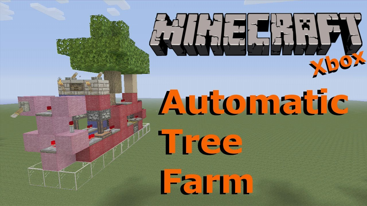 minecraft automatic tree farm xbox one